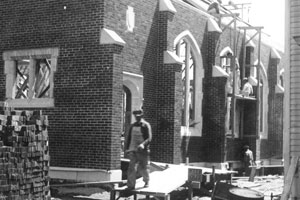 Work on the new sanctuary, 1934