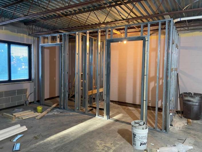Door jams installed in the new frames